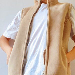 Beige women's vest